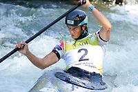 5th September 2021; Parc Olimpic del Segre, La Seu D'Urgell ICF Slalom World Cup, Women's Canoe Final;  Mallory Franklin (GBR)