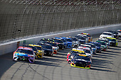 #18: Kyle Busch, Joe Gibbs Racing, Toyota Camry M&M's Fudge Brownie, #24: William Byron, Hendrick Motorsports, Chevrolet Camaro Axalta