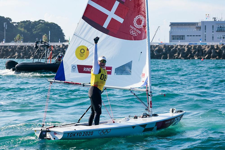 Anne-Marie Rindom (DEN) won gold in the Women's One Person Dinghy