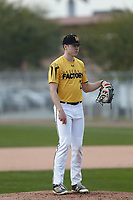 Daniel Erwin (2) of Lewis And Clark High School in Spokane, Washington during the Under Armour All-American Pre-Season Tournament presented by Baseball Factory on January 14, 2017 at Sloan Park in Mesa, Arizona.  (Kevin C. Cox/MJP/Four Seam Images)