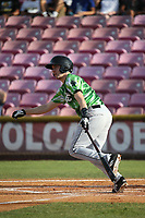 Austin Filiere (7) of the Eugene Emeralds bats against the Salem-Keizer Volcanoes at Volcanoes Stadium on July 24, 2017 in Keizer, Oregon. Eugene defeated Salem-Keizer, 7-6. (Larry Goren/Four Seam Images)