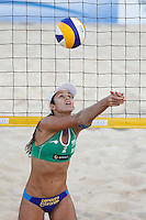 Brazil's Talita Antunes da Rocha in action during the women's final match between Brazil and United States at the Beach Volleyball World Tour Grand Slam, Foro Italico, Rome, 23 June 2013. Brazil defeated United States 2-1.<br /> UPDATE IMAGES PRESS/Isabella Bonotto