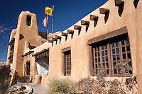 Facade of The New Mexico Museum of Art, Santa Fe, New Mexico