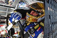Feb 20, 2009; Fontana, CA, USA; NASCAR Sprint Cup Series driver David Reutimann during practice for the Auto Club 500 at Auto Club Speedway. Mandatory Credit: Mark J. Rebilas-