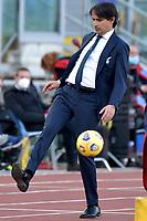 Simone Inzaghi coach of SS Lazio kicks the ball during the Serie A football match between SS Lazio and UC Sampdoria at Olimpico Stadium in Roma (Italy), February 20th, 2021. Photo Antonietta Baldassarre / Insidefoto