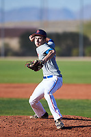Cameron Anderson (51), from Pequot Lakes, Minnesota, while playing for the Indians during the Under Armour Baseball Factory Recruiting Classic at Red Mountain Baseball Complex on December 28, 2017 in Mesa, Arizona. (Zachary Lucy/Four Seam Images)