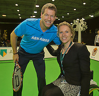 12-02-14, Netherlands,Rotterdam,Ahoy, ABNAMROWTT, Esther Vergeer(NED) and Sven Groeneveld(NED) Kids day <br /> Photo:Tennisimages/Henk Koster