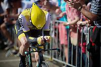 Steven Kruijswijk (NLD/LottoNL-Jumbo) finishing his prologue<br /> <br /> stage 1: Apeldoorn prologue 9.8km<br /> 99th Giro d'Italia 2016