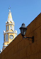 CARTAGENA-COLOMBIA-09-01-2013. Torre del Reloj en la Ciudad Amurallada de Cartagena de Indias, Colombia. Clock Tower in the walled city of Cartagena de Indias, Colombia. (Photo: VizzorImage)......