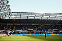 Saturday 2nd March 2013<br /> Pictured: (L-R) Jonathan de Guzman, Yoan Gouffran.<br /> Re: Barclays Premier Leaguel, Swansea  v Newcastle at the Liberty Stadium in Swansea.
