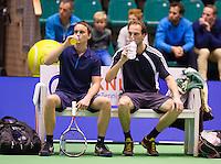 December 16, 2014, Rotterdam, Topsport Centrum, Lotto NK Tennis, Doubles, Steffan Kokkelink (R) and Youri Mayer<br /> Photo: Tennisimages/Henk Koster