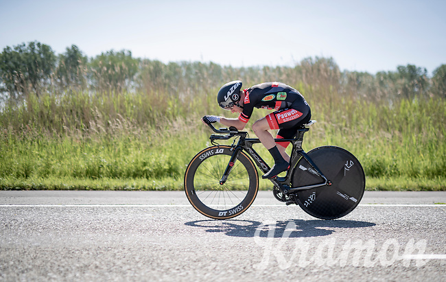 cyclocross powerhouse Eli Iserbyt (BEL/Pauwels Sauzen-Bingoal) during his TT<br /> <br /> 91st Baloise Belgium Tour 2021 (BEL/2.Pro)<br /> Stage 2 (ITT) from Knokke-Heist to Knokke-Heist (11.2km)<br /> <br /> ©kramon