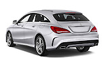 Car pictures of rear three quarter view of a 2015 Mercedes Benz CLA Class 220 AMG line 5 Door Wagon angular rear