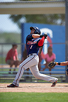 Minnesota Twins Rafael P Valera (1) during a minor league Spring Training intrasquad game on March 15, 2016 at CenturyLink Sports Complex in Fort Myers, Florida.  (Mike Janes/Four Seam Images)