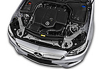 Car Stock 2017 Mercedes Benz E-Class Launch-Edition 5 Door wagon Engine  high angle detail view