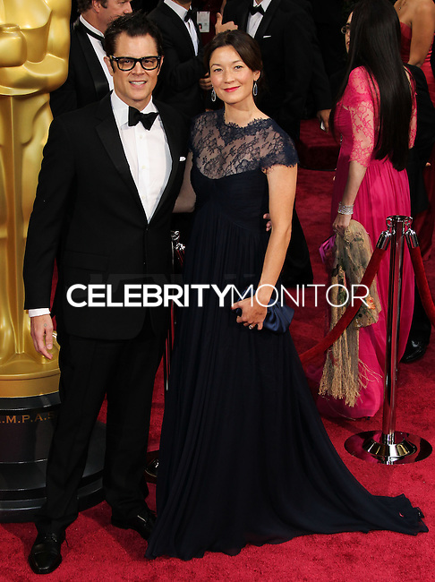 HOLLYWOOD, LOS ANGELES, CA, USA - MARCH 02: Johnny Knoxville, Naomi Nelson at the 86th Annual Academy Awards held at Dolby Theatre on March 2, 2014 in Hollywood, Los Angeles, California, United States. (Photo by Xavier Collin/Celebrity Monitor)