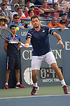 Stanislas Wawrinka (SUI) takes the first two sets from Albert Ramos-Vinolas (ESP) 7-5, 6-4 at the US Open in Flushing, NY on September 1, 2015.