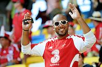 13.06.2012 LWOW - STADION ARENA LWOW ( LVIV UKRAINE STADIUM ARENA LVIV ) PILKA NOZNA ( FOOTBALL ) MISTRZOSTWA EUROPY W PILCE NOZNEJ UEFA EURO 2012 ( EUROPEAN CHAMPIONSHIPS UEFA EURO 2012 ) GRUPA B ( POOL B ) MECZ DANIA - PORTUGALIA ( GAME DENMARK - PORTUGAL ).NZ KIBIC DANIA.FOTO MICHAL STANCZYK / CYFRASPORT/NEWSPIX.PL.---.Newspix.pl