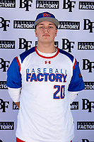 Tyler Brandenburg (20) of Lake Country Lutheran High School in Saukville, Wisconsin during the Baseball Factory All-America Pre-Season Tournament, powered by Under Armour, on January 12, 2018 at Sloan Park Complex in Mesa, Arizona.  (Mike Janes/Four Seam Images)