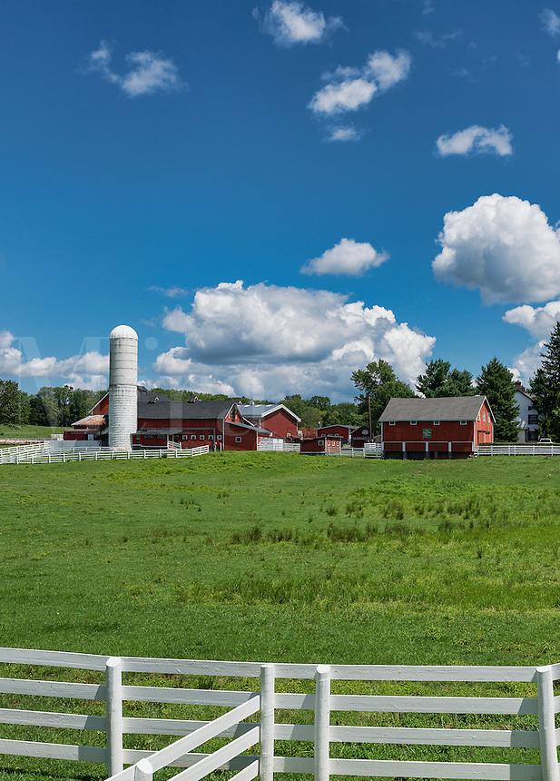 Quaint horse farm in rural Gladstone, New Jersey, USA