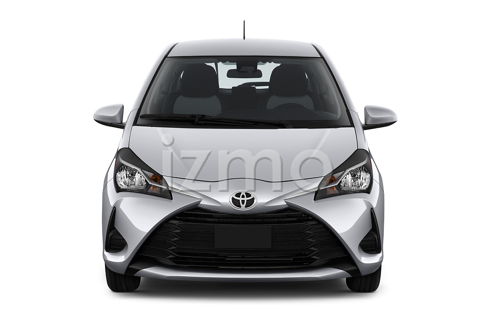 Car photography straight front view of a 2018 Toyota Yaris L 3-Door Liftback 3 Door Hatchback