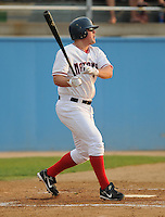 June 21, 2008: Infielder Bill Rhinehart (11) of the Potomac Nationals, Carolina League affiliate of the Washington Nationals, in a game against the Frederick Keys at G. Richard Pfitzner Stadium in Woodbridge, Va. Photo by:  Tom Priddy/Four Seam Images