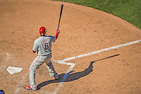 26 May 2013: Philadelphia Phillies first baseman Ryan Howard in action against the Washington Nationals at Nationals Park in Washington, DC. The Nationals defeated the Phillies 6-1, taking the rubber game of their 3-game weekend series. Mandatory Credit: Ed Wolfstein Photo *** RAW (NEF) Image File Available ***