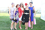 Alison McGilligan and Rhiannon with sisters Lisa Morgan, Karen Healy and Tahnee Morgan at the Bellewstown Races..Picture Jenny Matthews/Newsfile.ie