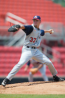 Tennessee starting pitcher Greg Smith winds up to delver the ball to the plate versus Carolina at Five County Stadium in Zebulon, NC, Sunday, July 2, 2006.  The Mudcats defeated the Smokies 4-0.