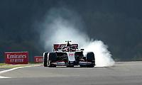 10th 2020, Nuerburgring, Nuerburg, Germany; FIA Formula 1 Eifel Grand Prix, Qualifying sessions;  Kevin Magnussen DNK 20, Haas F1 Team  locks up