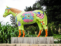 Old Paint is decked out for summer at Lemo's Farm in Half Moon Bay.