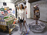 Yaaserwaah Akuoku and Cantrese Grant attends the ChaShaMa 'Open Studios' Opening Night Reception on October 12, 2018 at the Brooklyn Army Terminal in Brooklyn, New York.