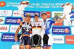 Andre Greipel (GER) Lotto-Soudal wins Stage 4 of the 2015 Presidential Tour of Turkey, with Daniele Colli (ITA) Nippo-Vini Fantini in 2nd place and Daniele Ratto (ITA) United HealthCare in 3rd, running 132km from Fethiye to Marmaris. 29th April 2015.<br /> Photo: Tour of Turkey/Mario Stiehl/www.newsfile.ie