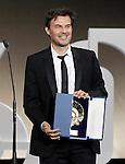 French film director Francois Ozon receives the Golden Shell best film award during the Awards Gala in the 60th San Sebastian Donostia International Film Festival - Zinemaldia.September 29,2012.(ALTERPHOTOS/ALFAQUI/Acero)