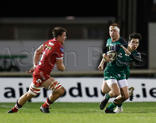 14th November 2020; Galway Sportsgrounds, Galway, Connacht, Ireland; Guinness Pro 14 Rugby, Connacht versus Scarlets; Alex Wootton on an attacking run for Connacht