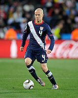 Goal scorer Michael Bradley of USA. USA tied Slovenia 2-2 in the 2010 FIFA World Cup at Ellis Park in Johannesburg, South Africa on June 18th, 2010.
