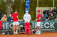 Netherlands, September 27,  2020, Beneden-Leeuwen, TV Lewabo, Competition, Men's premier league, TV Lewabo vs TV Suthwalda, Doubles: Steffan Wauters (NED) (L) and Justin Eleveld (NED) team Lewabo <br /> Photo: Henk Koster/tennisimages.com