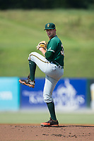 Greensboro Grasshoppers relief pitcher Chad Smith (30) in action against the Kannapolis Intimidators at Kannapolis Intimidators Stadium on August 13, 2017 in Kannapolis, North Carolina.  The Grasshoppers defeated the Intimidators 4-1 in 10 innings in the completion of a game suspended on August 12, 2017.  (Brian Westerholt/Four Seam Images)