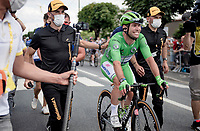 A supe rhappy Mark Cavendish (GBR/Deceuninck - Quick Step) wins his 2nd stage in this Tour<br /> <br />  Stage 6 from Tours to Châteauroux (160km)<br /> 108th Tour de France 2021 (2.UWT)<br /> <br /> ©kramon