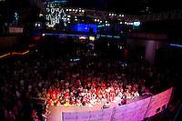 Kansas City, MO - Thursday, Oct 10, 2013: US Soccer holds an USMNT fan pep rally at the Power & Light District before their match vs. Jamaica.