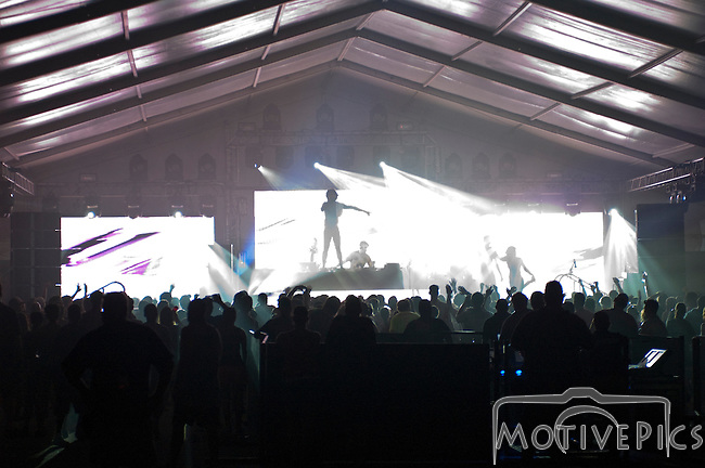 Major Lazer plays the Critical Mass Tent at the First Annual Kanrocksas Music Festival.