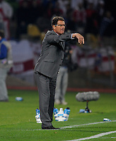 Fabio Capello manager of England. USA tied England 1-1 in the 2010 FIFA World Cup at Royal Bafokeng Stadium in Rustenburg, South Africa on June 12, 2010.