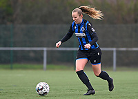 Elle Decorte (7) of Club Brugge pictured during a female soccer game between Club Brugge Dames YLA and White Star Woluwe on the 12 th matchday of the 2020 - 2021 season of Belgian Scooore Womens Super League , saturday 30 January 2021  in Brugge , Belgium . PHOTO SPORTPIX.BE | SPP | DAVID CATRY