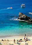 Spanien, Kanarische Inseln, Lanzarote, El Papagayo: Kueste und Strand Playa del Papagayo | Spain, Canary Island, Lanzarote, El Papagayo: coastline and beach Playa del Papagayo