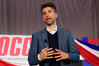 Philadelphia, PA - Saturday January 20, 2018: Kyle Martino during the U.S. Soccer Federation Presidential Election Candidates Forum hosted by US Youth Soccer at the Philadelphia Marriott Downtown Grand Ballroom.