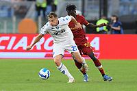 3rd October 2021; Stadio Olimpico, Rome, Italy; Serie A football, AS Roma versus Empoli; Szymon Zurkowski of FC Empoli and Ebrima Darboe of As Roma