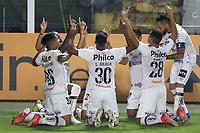 Santos (SP), 04.05.2021 - Santos-The Strongest - O jogador marinho comemora gol. Partida entre Santos e The Strongest valida pela fase de grupos da Libertadores da América nesta terça (4) no estadio da Vila Belmiro em Santos.