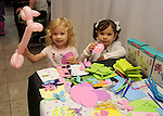 Cecily Natuilas and Zoe Weiss play at the MD Anderson Children's Cancer Hospital, Bunny Hops and Photo Ops at The Galleria Saturday March 21,2016.(Dave Rossman Photo)