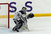 WORCESTER, MA - FEBRUARY 08: Jada Brenon #31 of Holy Cross during a game between Boston University and College of the Holy Cross at Hart Center Rink on February 08, 2020 in Worcester, Massachusetts.