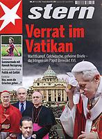 Stern German Magazine Pope Benedict XVI.Photograph by Stefano Spaziani.. 6 July, 2012.